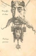 """ Mouzaffer Ed Dine "" - Illustrateur ORENS - Mozaffaredin Shah - Roi King - 1902 - Caricature - Iran"