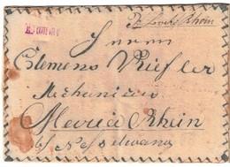 1820 Ca. DAMME, Kleiner L1 In Rot Auf Selbst Gestalteter Zierbriefhülle Nach Maria-Tain B. Nesselwang. Nicht Bei Feuser. - Oldenburg