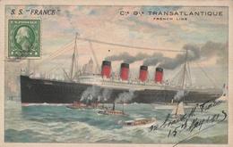 "Cie Gle Transatlantique - French Line S.S. ""FRANCE"" - United States"