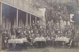 Soldats Belges à Wijchmaal Camp Militaire 1911 Photo Carte (Maaseik) - Peer