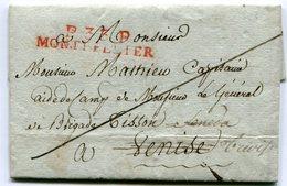 HERAULT De MONTPELLIER LAC Du 20/03/1808 Linéaire De Port Payé 47x9 + Verso Taxe De 15 Pour VENISE !!!!!!!!!!!!!!!!!!! - Marcophilie (Lettres)