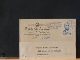 82/464  CP  BELGE  1962 IMPRIMES  2FR - Belgique