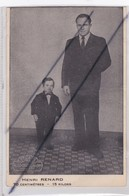 Nain Henri Renard Né à Orléans (45) En 1895 ;70 Centimètres -15 Kilogs - Circo
