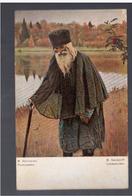 Russian Art M. Nesteroff :L'anachorete Red Cross Ca 1905 OLD POSTCARD - Rusland