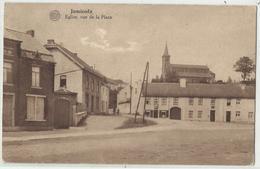 JAMIOULX Eglise Vue De La Place - 1928 (Nalinnes - HAM-sur-HEURE) - Ham-sur-Heure-Nalinnes