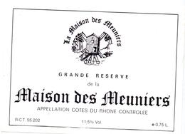 Etiket Etiquette - Vin - Wijn - Molen Moulin - Maison Des Meuniers - Windmills