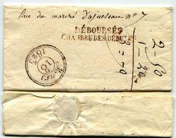 DEBOURSES CHAMBRE DES DEPUTES Du 18/03/1823 Sur LSC De TOURS Taxée 5 Pour PARIS - 1801-1848: Precursors XIX