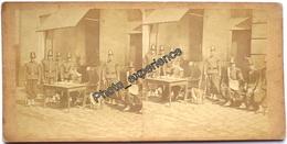 Photo Stéréo XIX Militaire Empire Military 1860 1870 FRANCE - Stereoscoop