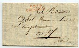 ISERE De GRENOBLE LAC Du 4/12/1804 Linéaire De Port Payé 31x9+ Verso Taxe De 20 Pour VIF - Marcophilie (Lettres)