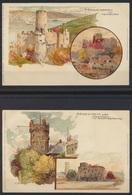 4 Litho Künstler Ansichtskarten Verlag Hugo Moser Stuttgart Manuel Wielandt - Künstlerkarten