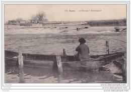 47) Agen.- Le Barrage De Beauregard - (animée -  Barque Avec Pêcheur à La Ligne) - Agen