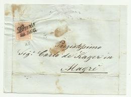 Francobollo 3  Kreuzer Da Lavis   Su Frontespizio - 1850-1918 Imperium