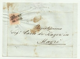 Francobollo 3  Kreuzer Da Lavis   Su Frontespizio - 1850-1918 Empire