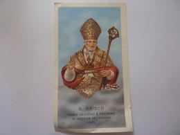 """Santino """"SAN PRISCO Primo Vescovo E Patrono Di Nocera Dei Pagani 1961"""" - Santini"""