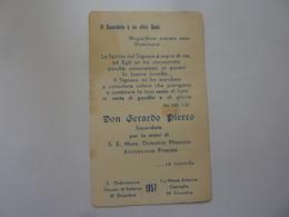 "Santino ""Ordinazione Sacerdotale DON GERARDO PIERRO Salerno 1957"" - Santini"