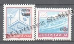 Croatia - Croatie Krajina 1993 Yvert 8-9, Referendum, Overprinted Yugoslavia Stamps - MNH - Croatie