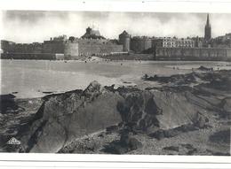 Cpsm Format Cpa. 4. SAINT-MALO . VUE PRISE DU FORT NATIONAL . CARTE ECRITEAU VERSO LE 28-1-1941 - Saint Malo