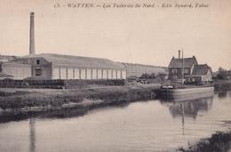 WATTEN  59 (  LES TUILERIES DU NORD  ) CANAL  DE HAUTE COLME PENICHE MARINIERS - Sonstige Gemeinden