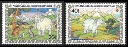 MONGOLIE  1984 -   YT  1319 Et 1321 - Eléphant Blanc  - NEUFS** - Mongolie
