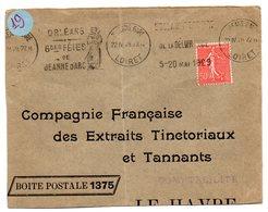 LOIRET - Dépt N° 45 = ORLEANS GARE 1929 = FLAMME  KRAG  Illustrée ' FETES JEANNE D' ARC / 500e ANNIVERSAIRE' - Maschinenstempel (Werbestempel)