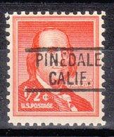 USA Precancel Vorausentwertung Preo, Locals California, Pinedale 802 - Vereinigte Staaten
