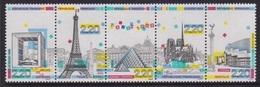 Panorama De Paris: Grande Arche, Tour Eiffel - FRANCE - Pyramide Du Louvre, Cathédrale Notre Dame, Opéra Bastille - 1989 - France