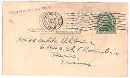 ETATS UNIS La FERIA Texas Printed Card Cancel 9 25 1946 1 Cent  RETURN FR ADITIONAL POSTAGE To France - Briefe U. Dokumente