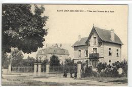 1 Cpa Saint Loup Sur Semouse - Villas Sur L'avenue De La Gare - France