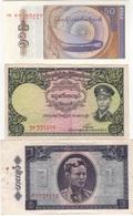 B13 - BIRMANIE Lot De 3 Billets - Myanmar