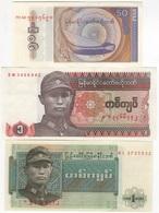 B14 - BIRMANIE Lot De 3 Billets - Myanmar