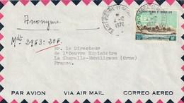 SAINT PIERRE ET MIQUELON N° 411 Seul Sur Lettre 1972 - St.Pierre Et Miquelon