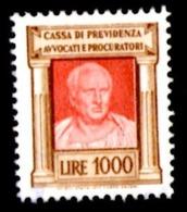 CASSA PREVIDENZA AVVOCATI - EMISSIONE 1968 - 1 ESEMPLARE £. 1000 PARTE DESTRA - USATO - 6. 1946-.. Repubblica