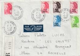 SAINT PIERRE ET MIQUELON Lettre Recommandée Affr. Mixte France / SPM 1986 - Lettres & Documents