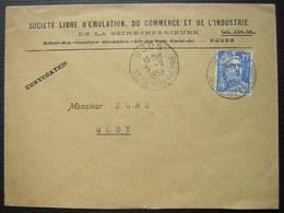 Boos 1952 Lettre à En Tête De La Société Libre D'émulation Du Commerce Et De L'industrie De La Seine Inférieure De Rouen - Postmark Collection (Covers)