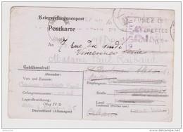 KRIEGSGEFANGENENPOST PRISONNIER CARTE 1940 CAPITAINE PAUL RAIBAUD N° 45 OFLAG IV D 22 BLOC 1 BARAQUE 36 - Cig GITANES - Marcophilie (Lettres)