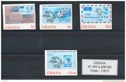 Ghana. 100eme Anniversaire De L'UPU. Série De 4 Timbres Non Dentelés - Ghana (1957-...)