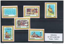 Ghana. 1er Anniversaire De La Revolution. Série De 6 Timbres Non Dentelés - Ghana (1957-...)