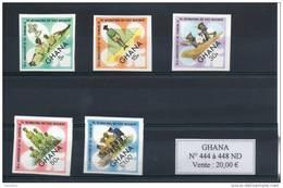 Ghana. Scoutisme. Série De 5 Timbres Non Dentelés - Ghana (1957-...)
