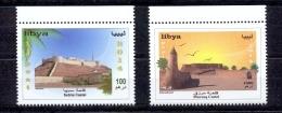 New Set Of 2014 Castels Of Libya ( 2v) - Libyen