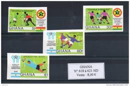 Ghana. Coupe Du Monde De Football En Argentine. Série De 4 Timbres Non Dentelés - Ghana (1957-...)