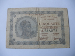 50 CT MINES DOMANIALES DE LA  SARRE TYPE 1920 SERIE B - Trésor