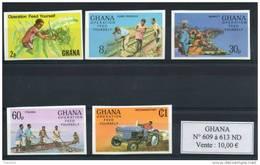 Ghana. Autosuffisance Alimentaire. Série De 5 Timbres Non Dentelés - Ghana (1957-...)
