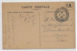 1939 - SECTEURS POSTAUX FICTIFS - CARTE FM Avec SP N°2154 (THONON) => HYERES (VAR) - Marcophilie (Lettres)