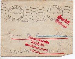 Lettre De 1940 Adressée à Un Prisonnier En Allemagne - Cachet De Retour Et Censure - Postmark Collection (Covers)