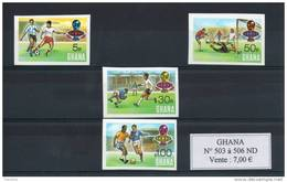Ghana. Coupe Du Monde De Football 1974. Série De 4 Timbres Non Dentelés - Ghana (1957-...)