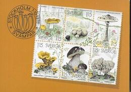 SVERIGE - FUNGHI DA LIBRETTO - 07.10.1978 - NUOVA - Francobolli (rappresentazioni)