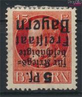 Bavière 172A K, Acant La Tête En Bas Surcharge Avec Charnière 1919 King Ludwig Avec Surcharge (9277087 (9277087 - Beieren