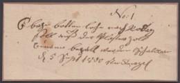 Handgeschriebener Postschein, 1800 - [1] Prephilately
