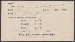 """""""Amberg"""", Fahrpostschein, 1858 - Bayern"""