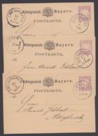 "P 18, 3 Bedarfskarten ""Saar"", Je ""Blieskastel"" Nach ""Zweibrücken"" - Bayern"